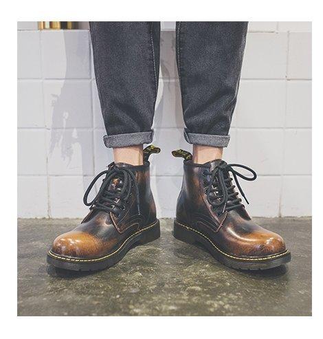 HL-PYL - schwarze Stiefel, Stiefel, Stiefel und Mode große Brache Hilfe Ma Dingxue, 40, Dunkelbraun