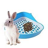 Pawaca Rabbit Cage Litter Box Potty,Corner Kitty Litter Box,Small Animal Litter Box