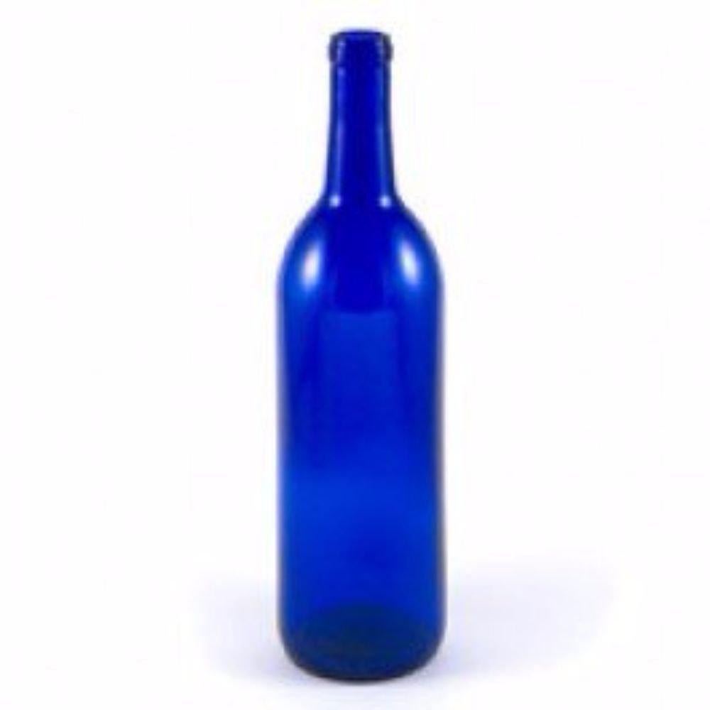 Cobalt Blue Wine Bottles-12 a Box, 750 mL Bordeaux by Unknown