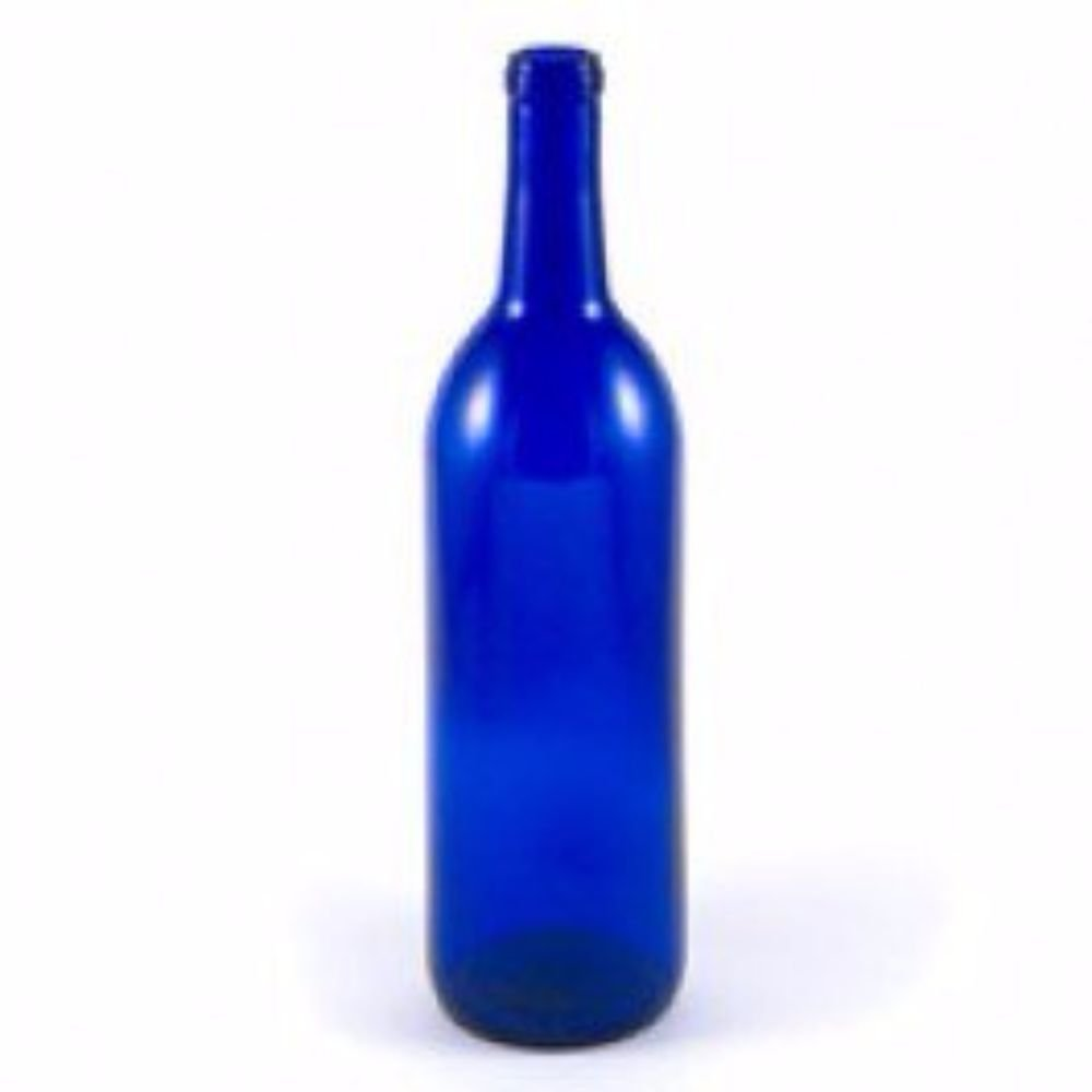Cobalt Blue Wine Bottles-12 a Box, 750 mL Bordeaux
