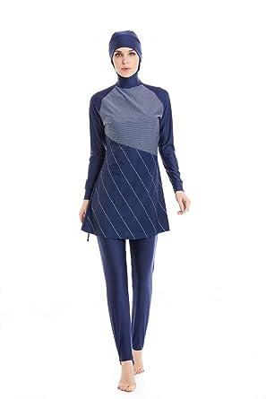 6786bbde69 Amazon.com: KXCFCYS Modest Muslim Swimwear Islamic Swimsuit Hijab Swimwear  Full Coverage Swimwear Muslim Swimming Beachwear Swim Suit: Clothing