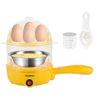 Caldera Eléctrica Para Huevos Vaporera Con Función De Huevo De Doble Nivel Con Capacidad Para 7