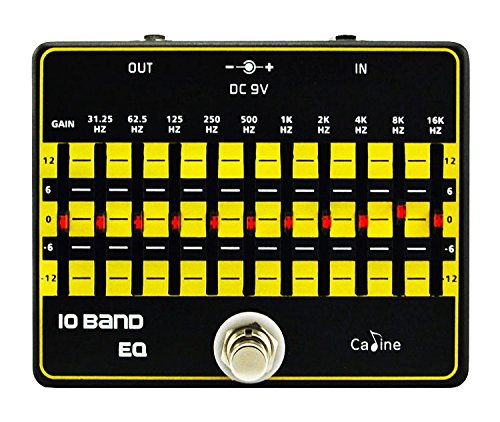 Caline 10 Band EQ Equalizer Guitar Effects Pedal True Byass Aluminium Alloy CP-24