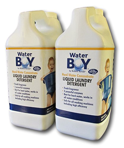 Water Boy Liquid Laundry Detergent- Hard Water Concentrate, Fresh Fragrance- 2 Pack (1 Gallon Total)