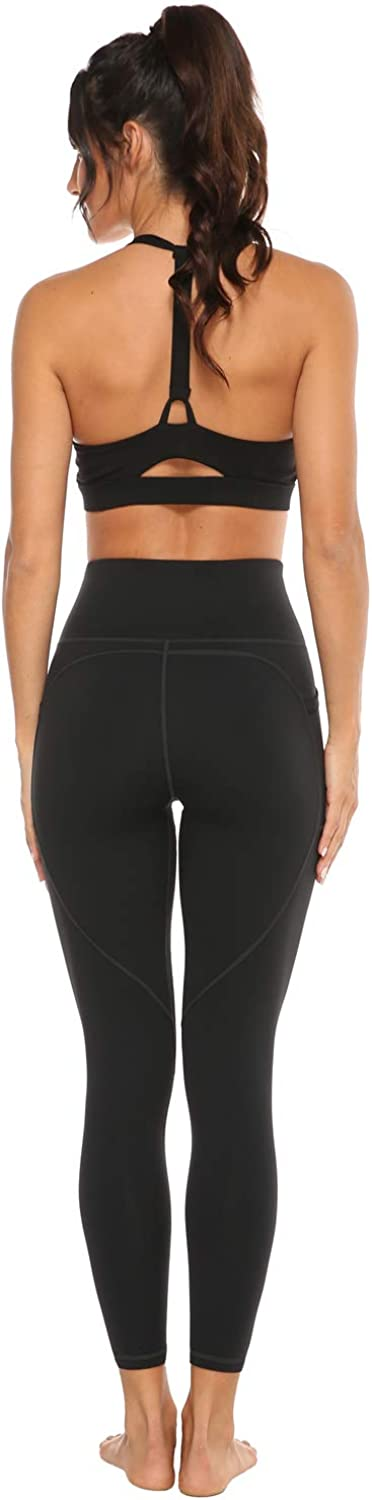 Persit Womens Yoga Pants with Pockets Non See-Through High Waist Tummy Control 4 Way Stretch Leggings