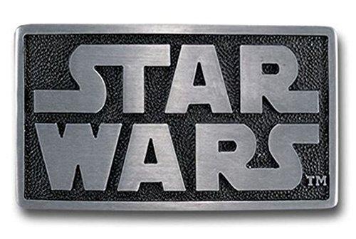 (Star Wars - Mens Star Wars - Logo Belt Buckle Silver (Black ans)