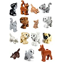 LEGO 15 pcs FRIENDS CAT DOG LOT Kitten Puppy Pet Animal Minifig Figure boy girl