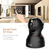 Wireless Security Camera, KAMTRON HD WiFi Security Surveillance IP Camera Home Monitor with Motion Detection 2 Way Audio Night Vision,Black
