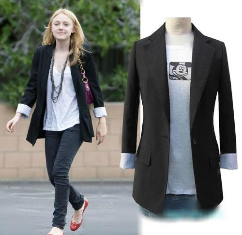 Celebrity Womens Long Sleeve Casual Suits Jacket COAT Top Blazer ...
