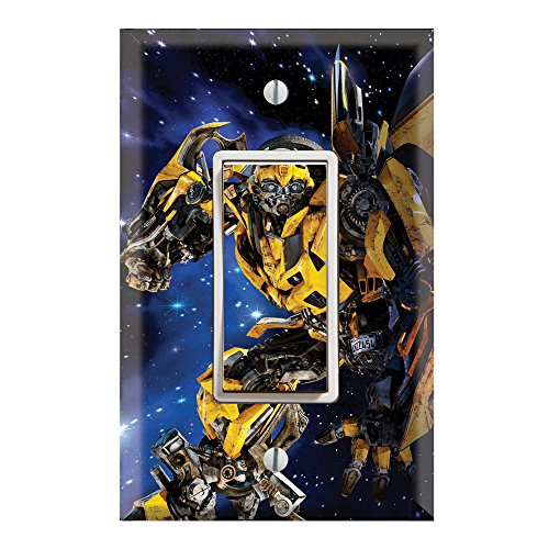 (Single Rocker Wall Switch/Outlet Cover Plate Decor Wallplate - Transformers Bumblebee )
