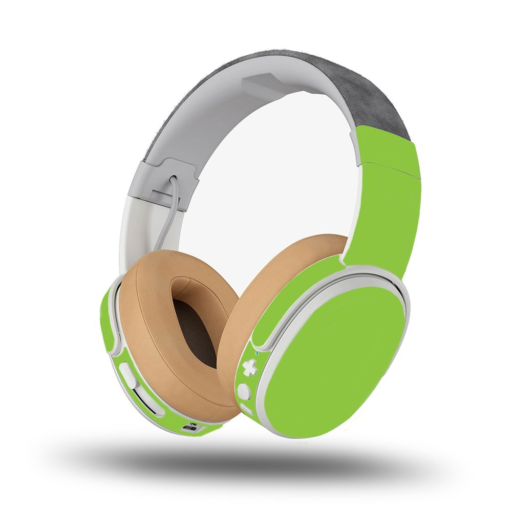 MightySkins Skin For Skullcandy Crusher Wireless - Solid Lime Green   Protective, Durable, and Unique Vinyl Decal wrap cover   Easy To Apply, Remove, and Change Styles   Made in the USA