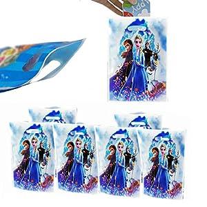 30 PCS Frozen Princess Party Goodie Bags, Frozen Princess Candies Bags Party Supplies for Kids Frozen Princess Themed Party, Birthday Party Favors Frozen Princess Gift Bags New