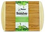 #1 Tabla de cortar de bambú ecológico EXTRA GRANDE - La mejor tabla de cortar con surco para la cocina