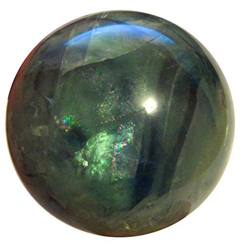 SatinCrystals Fluorite Rainbow Ball 1.6