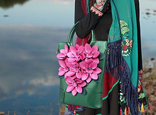 Larges Mode Sacs Bandoulière Des Green Sac La Imprimé Femmes Brodé Dames Fourre À tout qRnPw0v