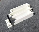 Lot of 2 HDPE Soap Loaf Making Mold and Single Slot Soap Cutter 4 - 5 lb ea mold
