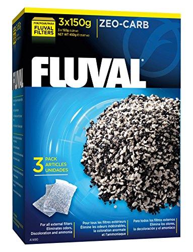 Fluval Zeo-Carb, 150 Gram, 3-Pack Nylon Bags - Nylon Aquarium Carbon