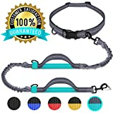 Benicci Hands Free Waist Dog Leash – Strong, Durable & Safe – For Jogging, Walking & Hiking - For Medium and Large Dogs & Multiple Dog Owners