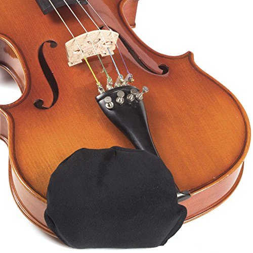 Chin Cozy Chinrest Cover: Large for 4/4 Violin and Viola - Black