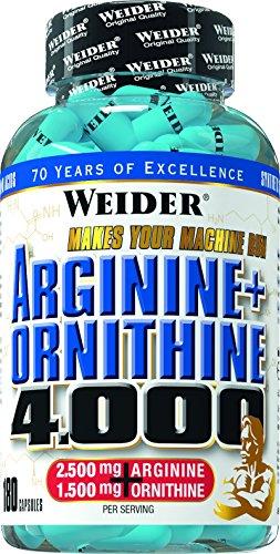 Weider Arginine plus Ornithine 4000- 180 Kapseln, 1er Pack (1 x 157 g)