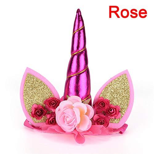 Party DIY Decorations - Unicorn Horn Flower Headband