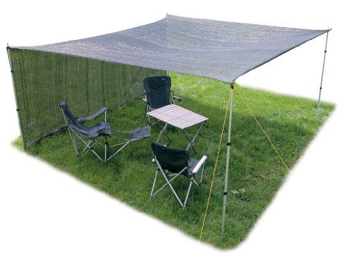 6 x 4 metres Garden Camping Schattentuch sandbox Sun halbdurchlässig
