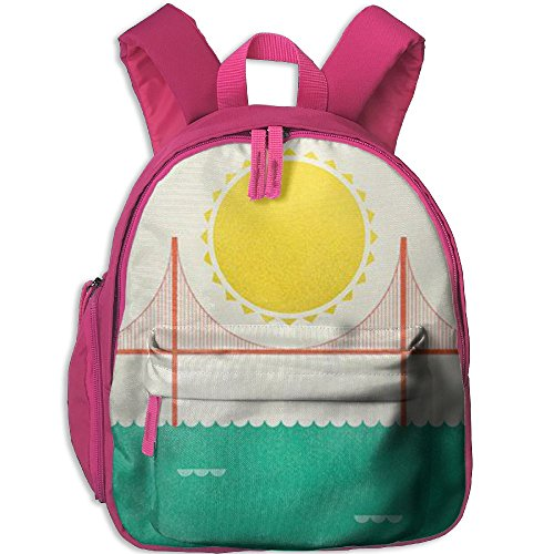 fan products of Golden Gate Bridge Cool Personalized Printing Shoulders Kid' Bag For Boy School Kindergarten Backpacks 12.5