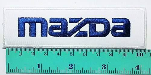 3 Patch White Mazda Racing Patch