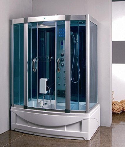 Luxury KBM 9001 Bathtub, Steam Shower Room Enclosure 60 X 35, Home SPA,