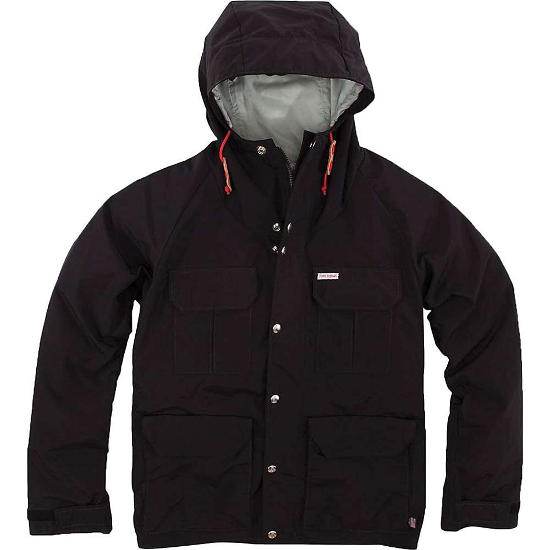 トポデザイン アウター ジャケットブルゾン Topo Designs Men's Mountain Jacket Black 1i9 [並行輸入品] B079D7Z2D4  Small