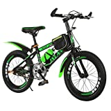 Children's bicycles 18/20 inch student mountain bike 6-15 years old cycling boy girl baby carriage (Color : Green-B, Size : 20 inches)