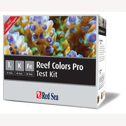 Red Sea Fish Pharm ARE21515 Saltwater Reef Color Pro Multi Test Kit for Aquarium (Iodine Pro Coral)