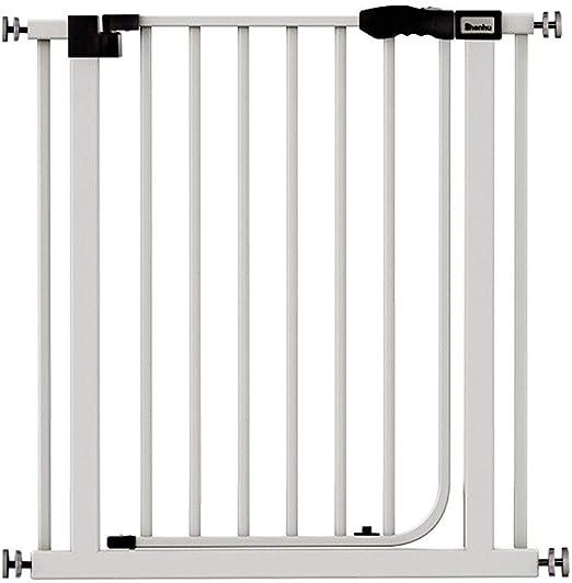 YONGYONG-Guardrail Escalera Puerta Barrera de Seguridad for niños, Cocina Interior, balcón, barandilla de Aislamiento, Cerca de Perro Mascota (Color : White, Size : 76-82cm): Amazon.es: Hogar