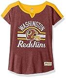 "NFL Girls 7-16 ""Tribute"" Football Tee -Burgundy-L(14), Washington Redskins"