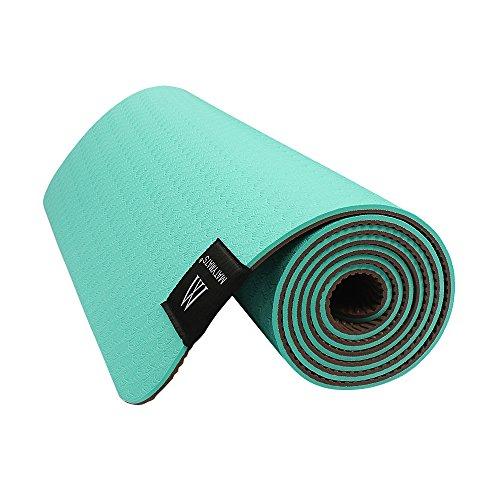 Matymats Yoga Mat Non Slip Tpe High Density Thick 1 4