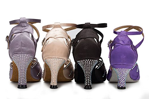 Jazz Salsa Sexy Chacha Baile Zapatos 5cm Altos Samba Grey7 Mujer Tacones Latino Tango para De Moderno Sandalias wTPwnqxC