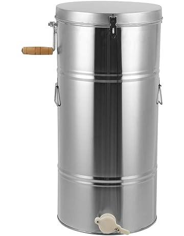 Zerone Acero Inoxidable Extractor de Miel Manual, 2 Marco or4 Marco,Gran Capacidad Extractor