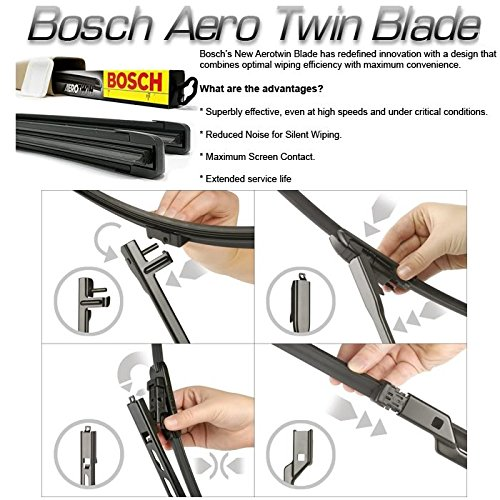 R52, R57 Bosch Aero Aerotwin Flat Front Wiper Blades Convertible 04-12