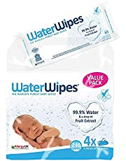 WaterWipes Sensitive Baby Wipes - 240 Wipes (4 Packs of 60 Wipes)