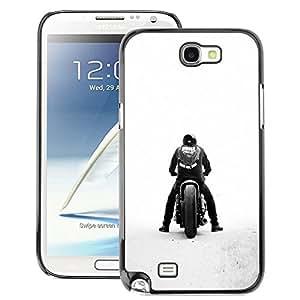 Snap-on Series Teléfono Carcasa Funda Case Caso para Samsung Note 2 N7100 , ( Bobber Motorcycle )