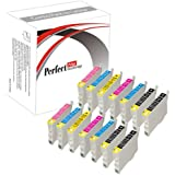 14 Cartucce di inchiostro compatibili per Epson Stylus Photo R200 R220 R300 R320 R340 RX500 RX600 RX620 RX640, 4x T0481, 2x T0482, 2x T0483, 2x T0484, 2x T0485, 2x T0486