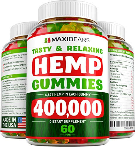 MAXIBEARS Hemp Gummies 400000