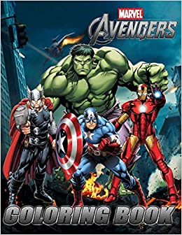 Amazon.com: MARVEL AVENGERS Coloring Book: Exclusive Work (33 ...