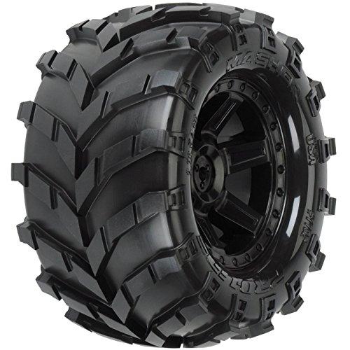 PROLINE 119213 Masher 2.8 All Terrain Tires Mounted On Desperado Rear Wheels - Monster Tires Mounted