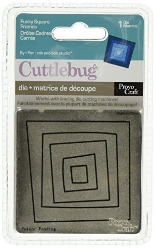 Cuttlebug 3-Inch-by-3-Inch Die, Funky Square Frame (Square Frames Cuttlebug Die)