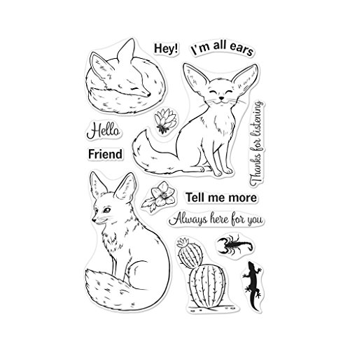 Hero Arts Clear Stamps Fennec The Fox by Hero Arts