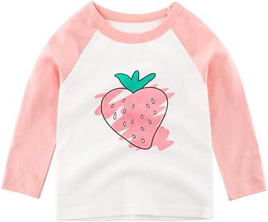 Hongyuangl Niños Niña Camisetas de algodón de Manga Larga ...