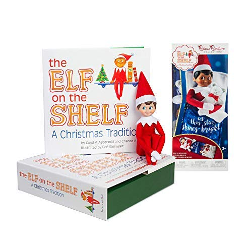 The Elf on the Shelf: A Christmas Tradition Boy Scout Elf (Blue Eyed) with Claus Couture Collection Scout Elf Slumber Set]()