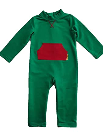 f804fffefd0d Amazon.com  Strip-Proof Toddler Romper with a Back Zipper in Green ...