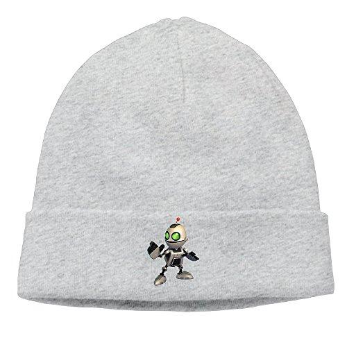 [DETO Men's&Women's Ratchet & Clank Patch Beanie RowingAsh Hat] (Puma New Wave)